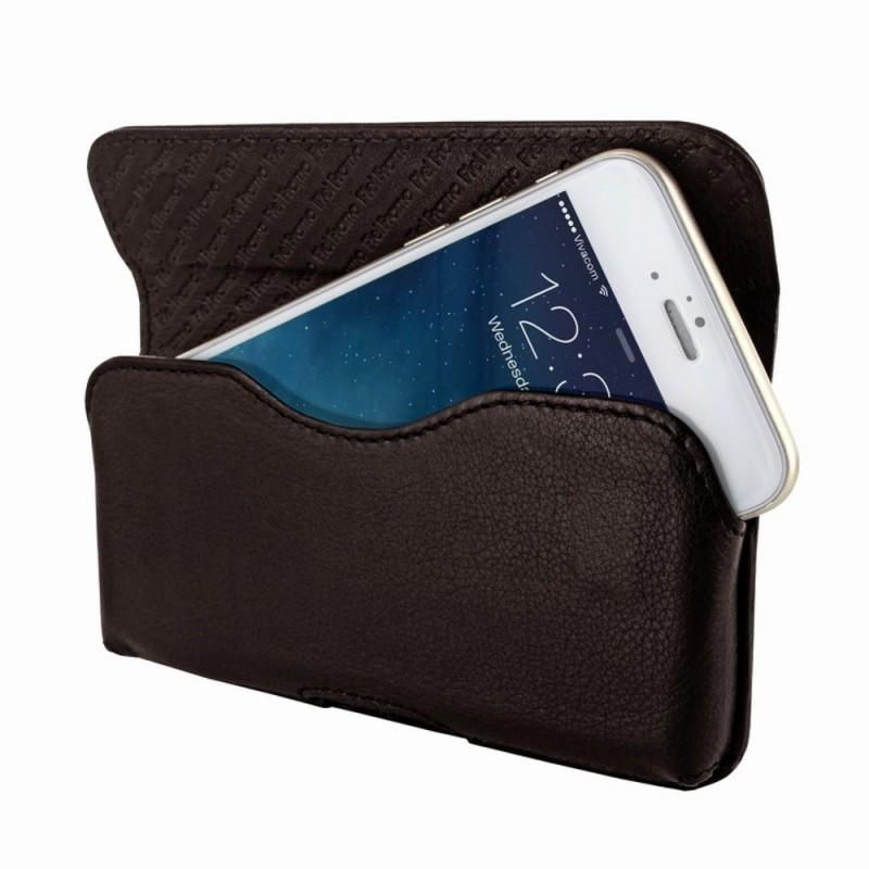 Piel Frama Horizontal iPhone 6 / 6S / 7 braun