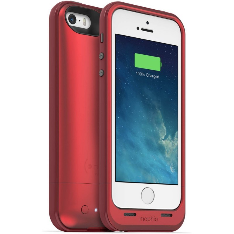Mophie juice pack plus iPhone 5(S)/SE 2100 mAh rot