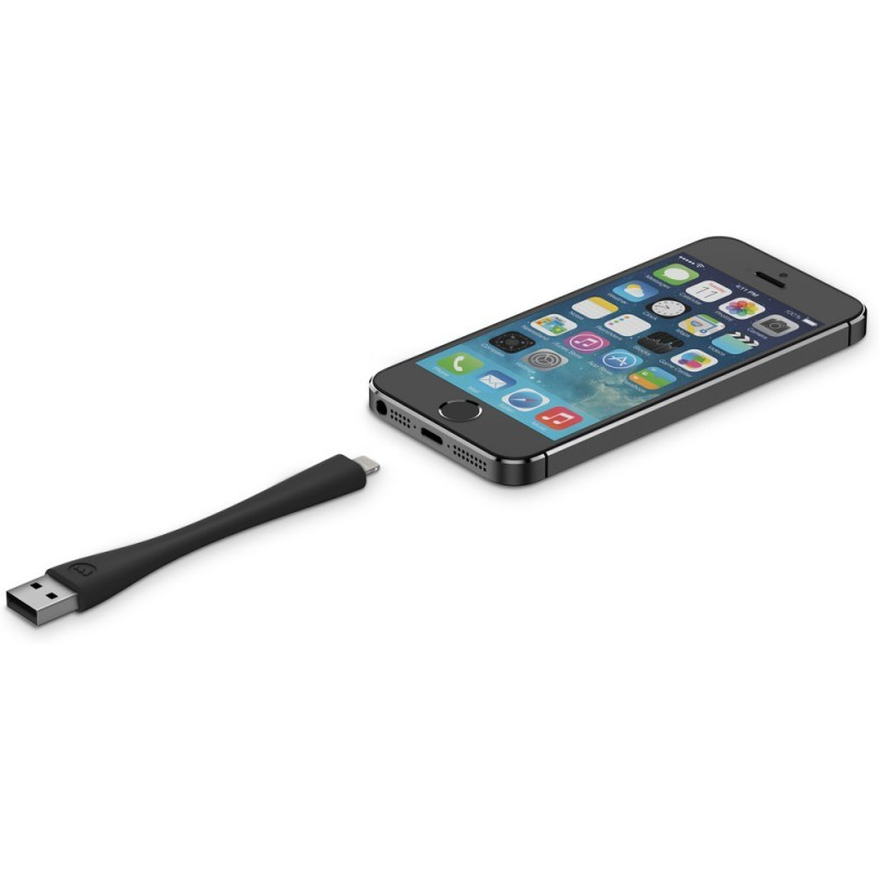 Mophie memory flex Lightning cable 10 cm schwarz