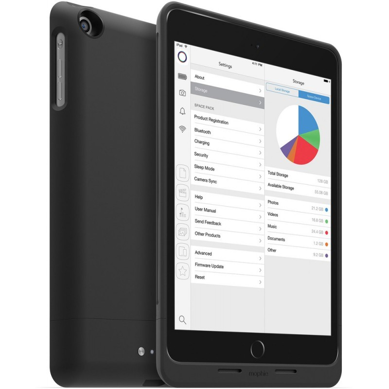 Mophie space pack 32GB iPad mini 1/2/3 8000 mAh schwarz