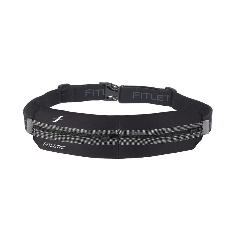Fitletic Double Pouch Running Belt Schwarz / Grau