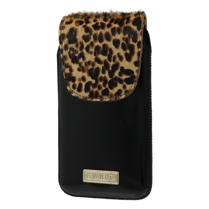 Leather Pocket Animal Black Leopard 20