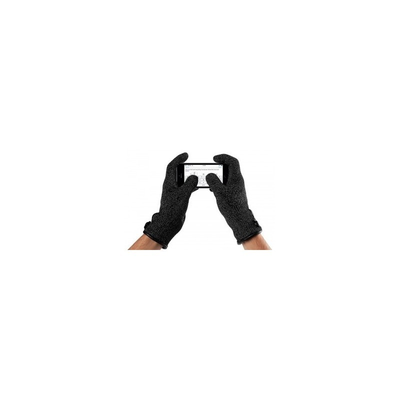 Mujjo Touchscreen-Handschuhe medium Single Layered schwarz