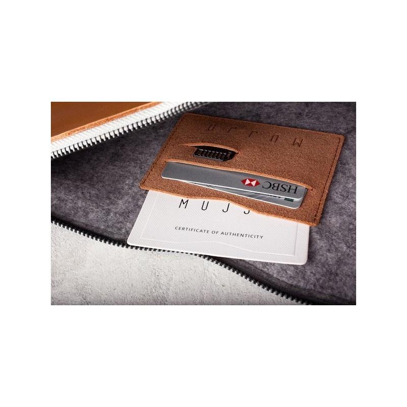 """Mujjo Folio Sleeve MacBook Air / Pro / Pro Retina 13"""" braun"""