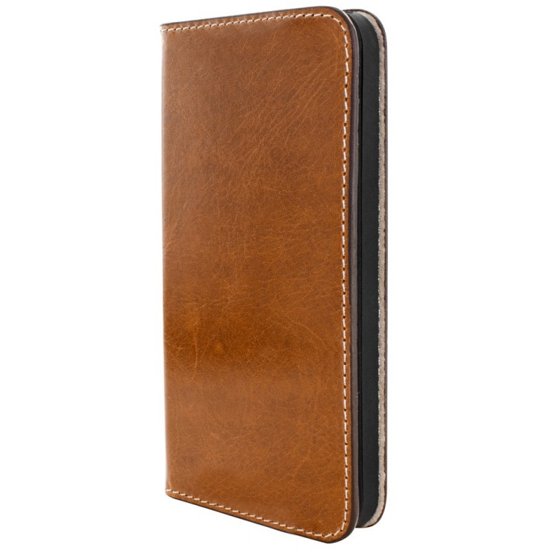 Mobiparts Excellent Wallet Case iPhone 5(S)/SE Oaked Cognac