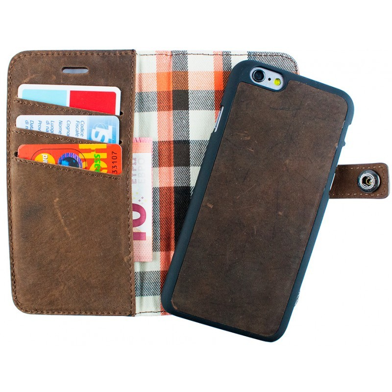 iMoshion Moyland Wallet Hülle iPhone 6(S) braun