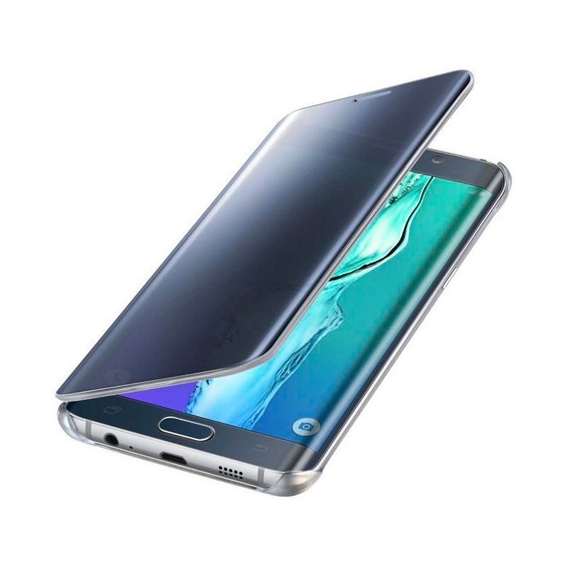 Samsung Clear View Cover Galaxy S6 Edge Plus blau/schwarz