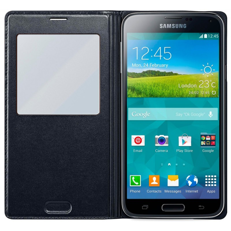 Samsung S-View Cover Galaxy S5 Black Punch