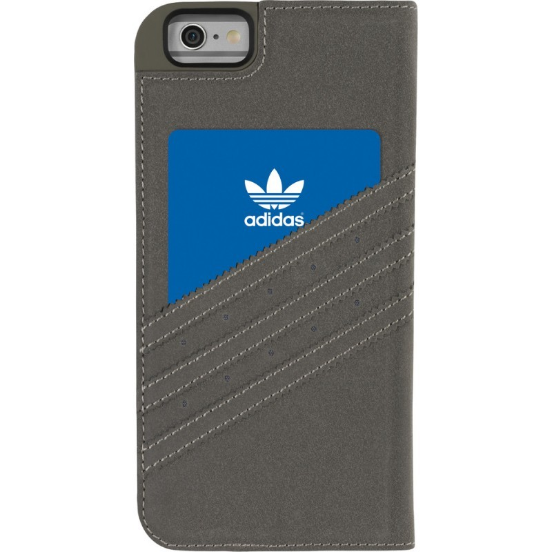 Adidas Vintage Booklet iPhone 6 Plus / 6S Plus Grau