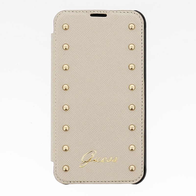 Guess Studded Galaxy S5 Folio Case Cremefarben