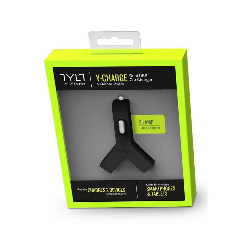 TYLT Y-USB Car Charger 2.1A Black