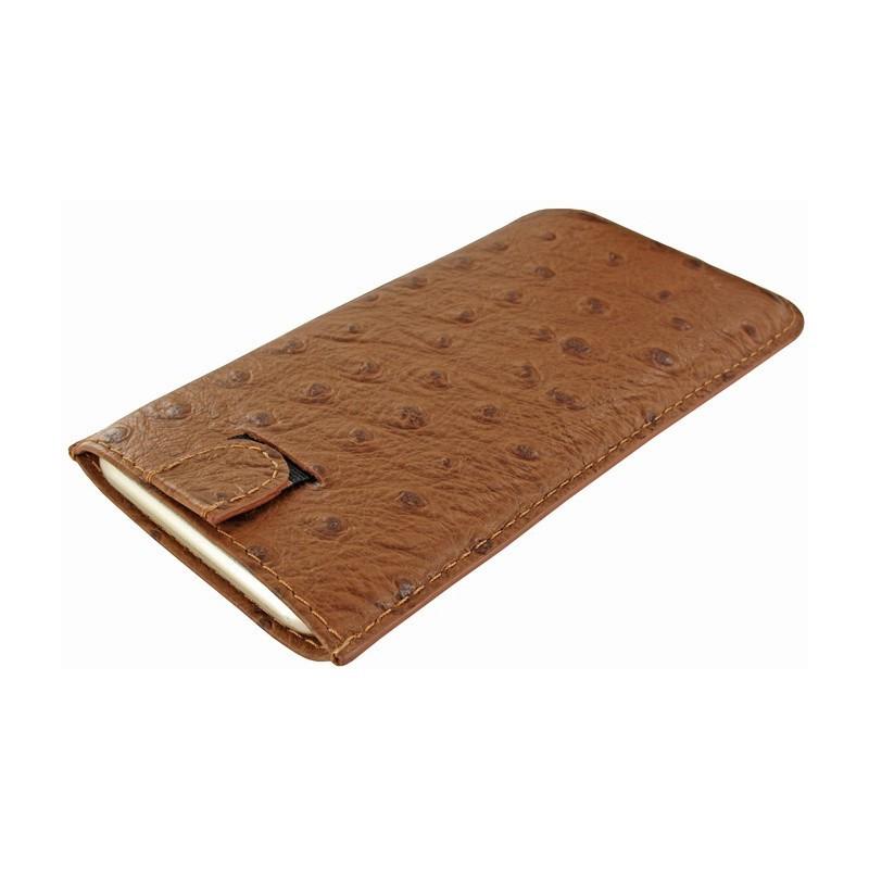 Piel Frama Pull Sleeve iPhone 6(S)/7 Ostrich Tan (braun)