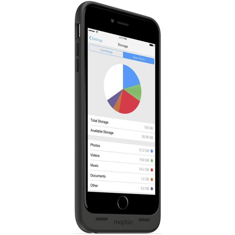 Mophie space pack 64GB iPhone 6(S) Plus 3300 mAh schwarz