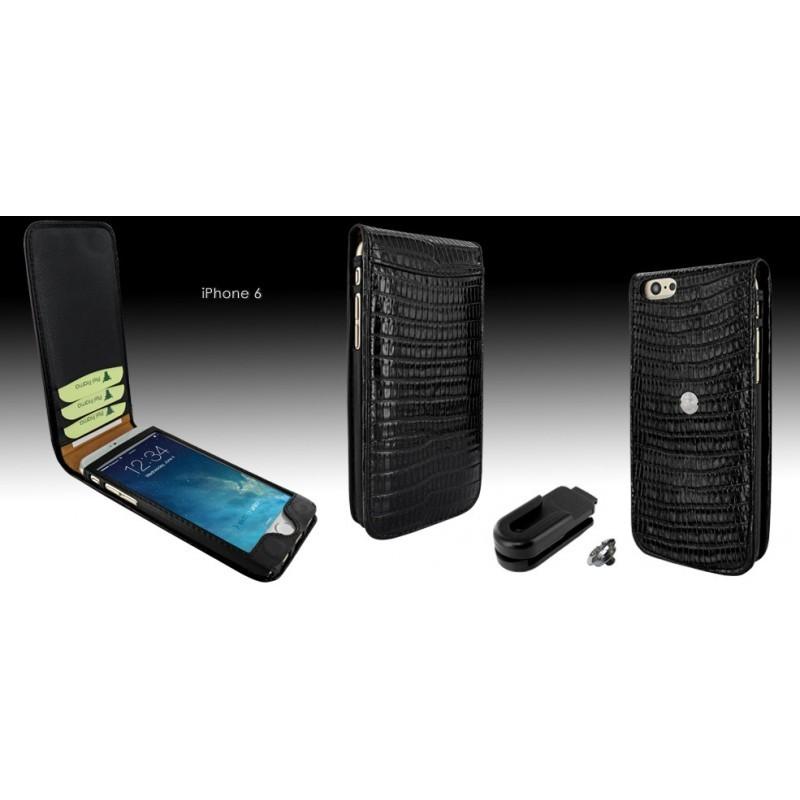 Piel Frama Magnetic iPhone 6(S) Lizard schwarz