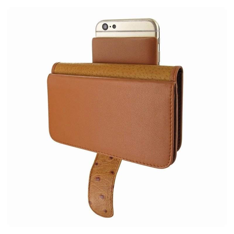 Piel Frama Wallet iPhone 6(S) Plus Ostrich bruin
