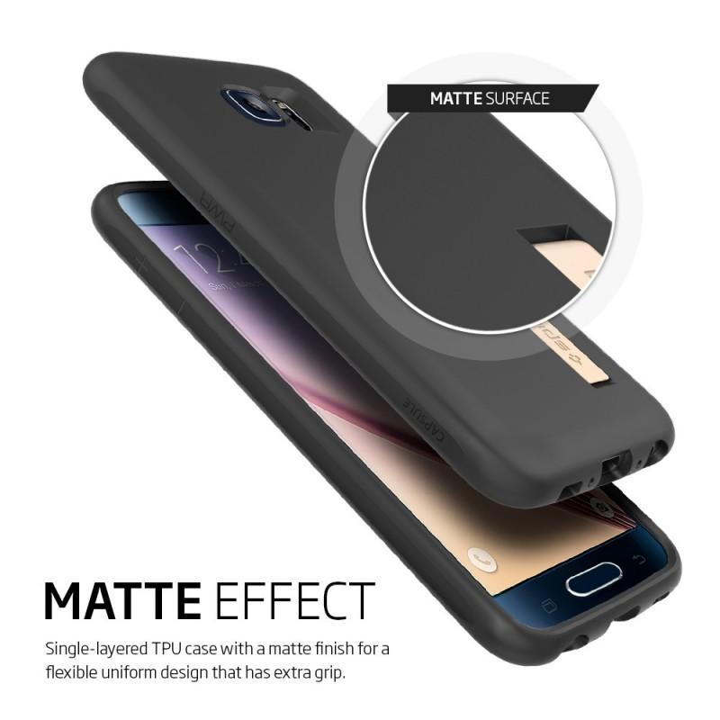 Spigen Capsule Galaxy S6 Solid zwart
