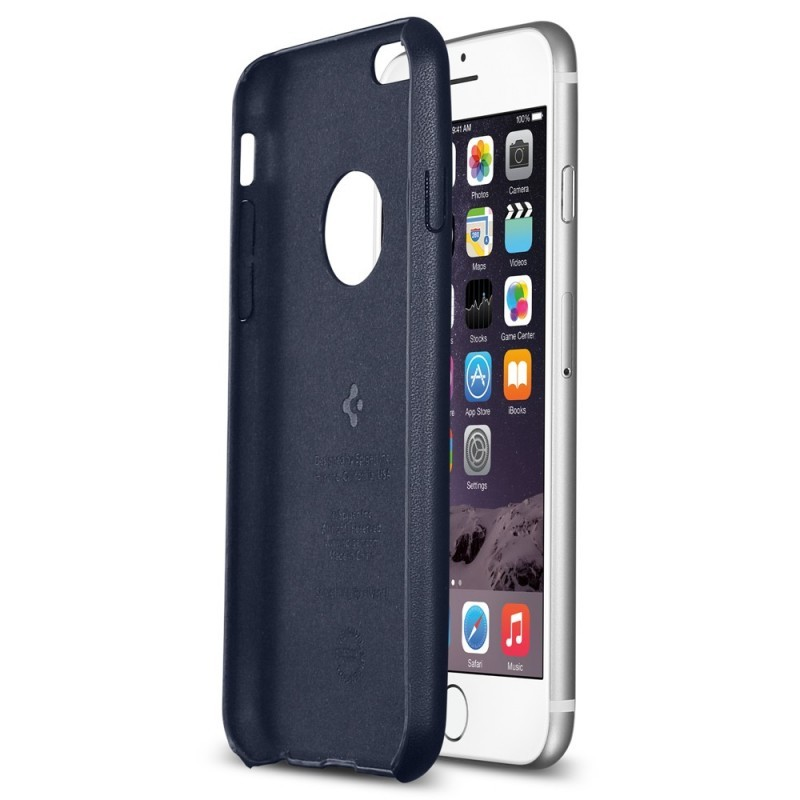 Spigen Leather Fit iPhone 6(S) blauw