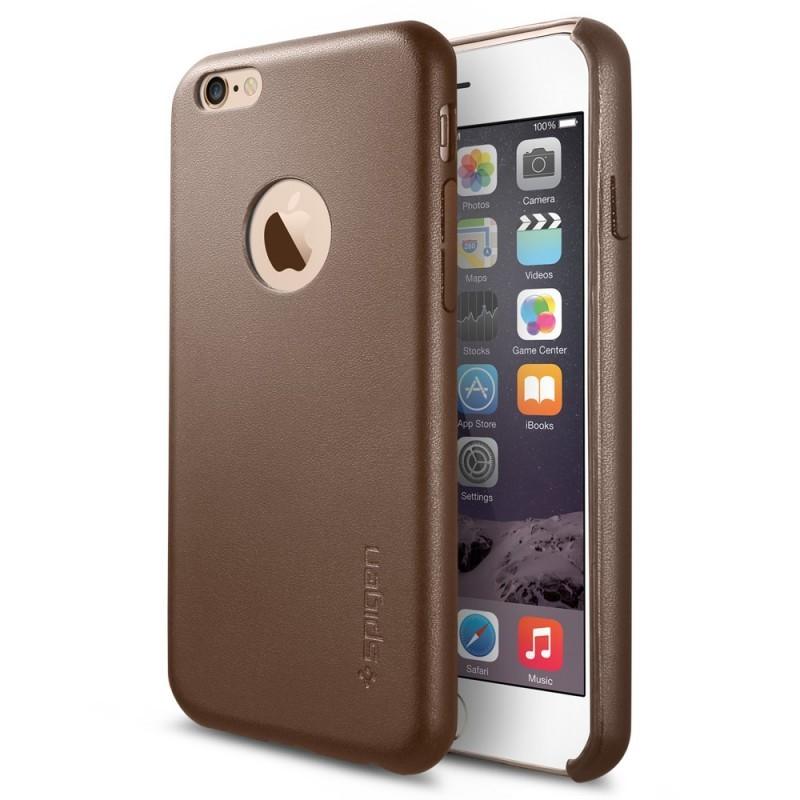 Spigen Leather Fit iPhone 6(S) Olive Brown