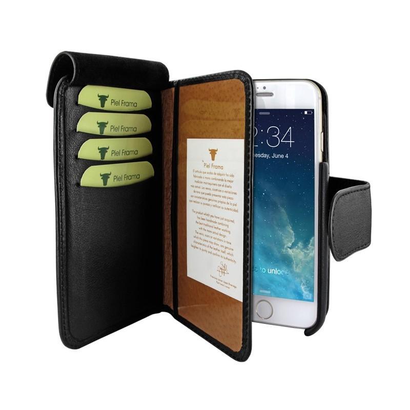 Piel Frama Wallet iPhone 6(S) Swarovski schwarz