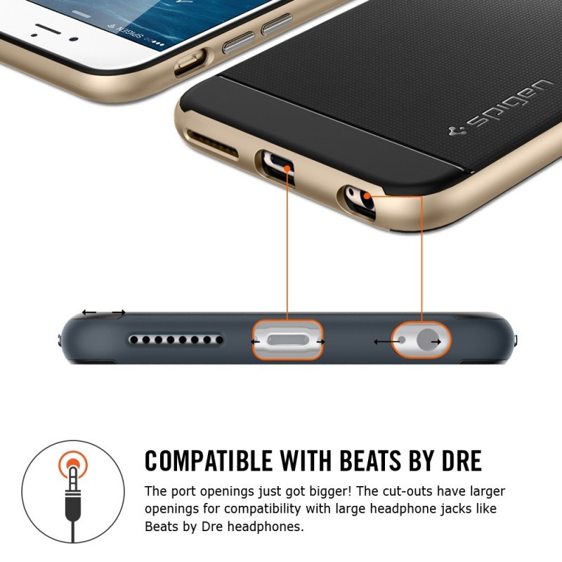 Spigen Neo Hybrid iPhone 6(S) Plus Metal Slate