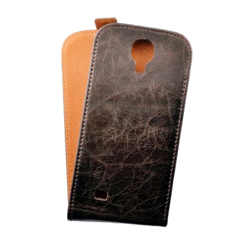 Toscana Galaxy S4 Flip Case Brown