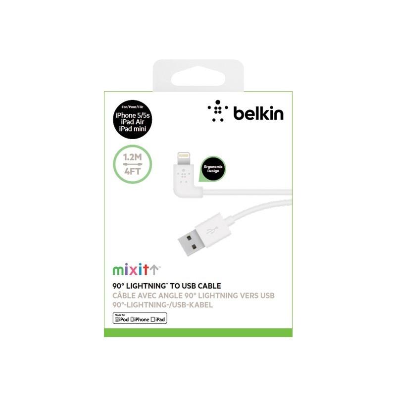 BELKIN MIXIT 90   ° Lightning - USB-kabel weiß