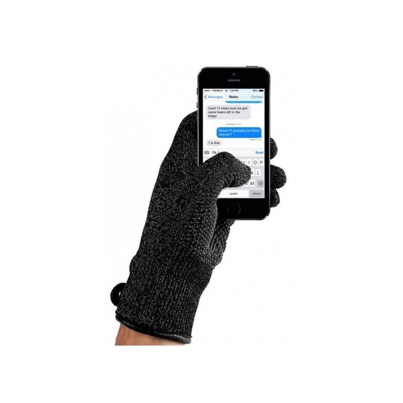 Mujjo Touchscreen-Handschuhe Double-Layered (M) schwarz