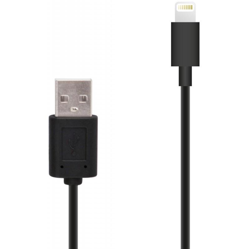 Muvit Lightning-auf-USB Kabel (1,00 m) schwarz