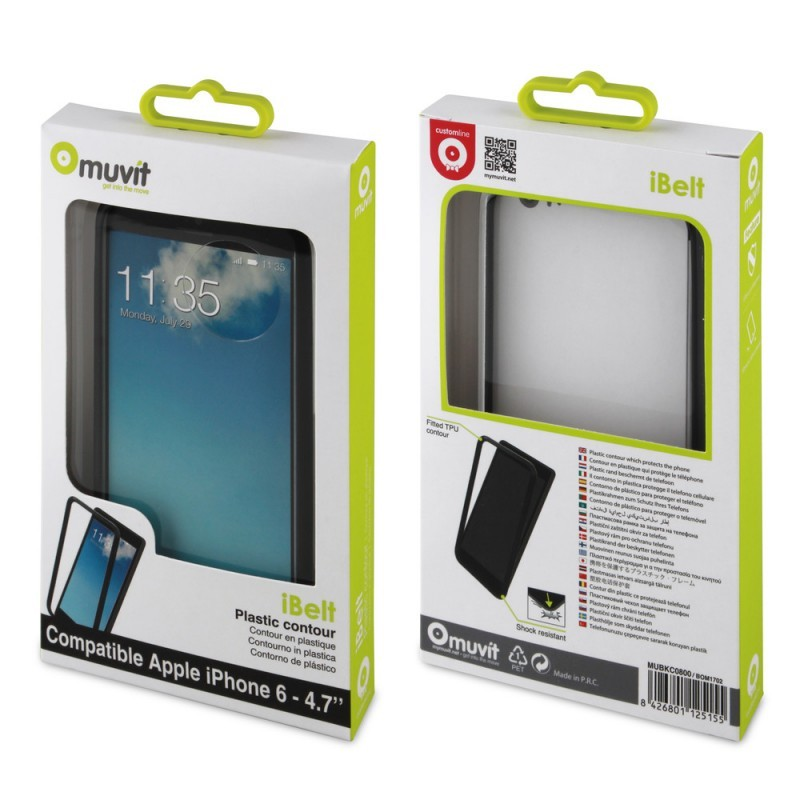 Muvit iBelt Bumper Case iPhone 6 / 6S Schwarz