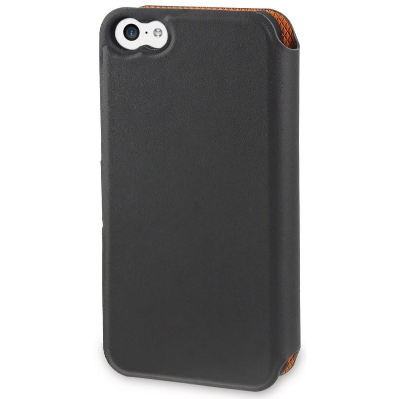 Muvit Magic Wallet Case iPhone 5C grau / orange