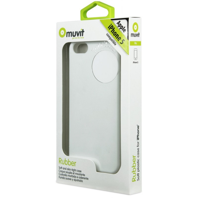 Muvit Siliconen Case iPhone 5(S)/SE weiß