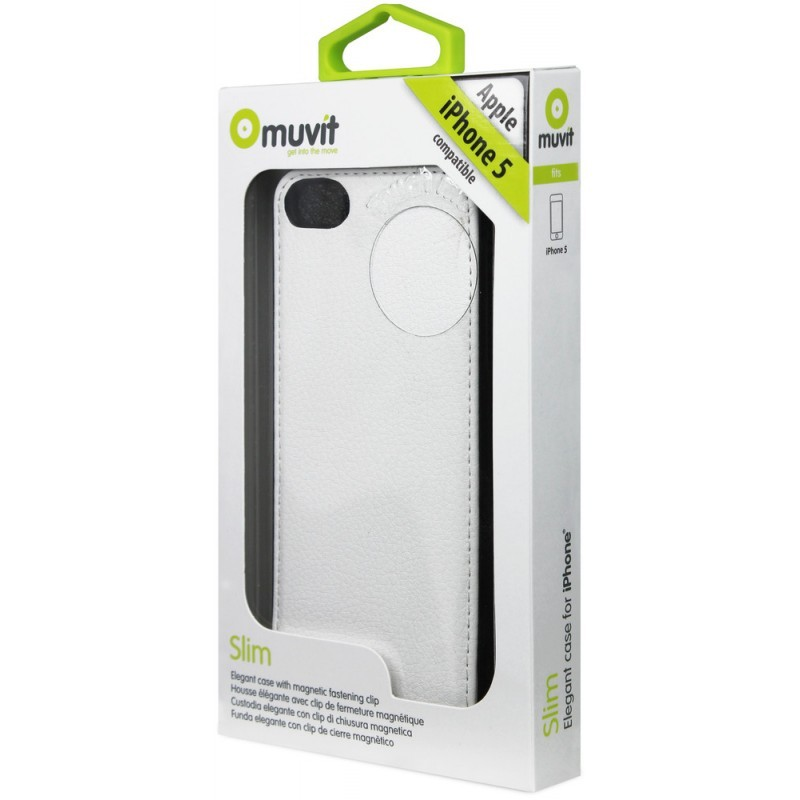 Muvit Slim Case iPhone 5(S)/SE weiß