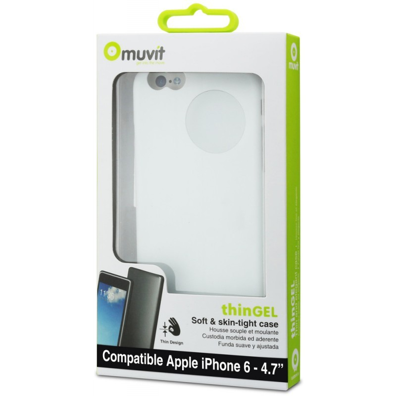 Muvit ThinGel Case iPhone 6(S) weiß