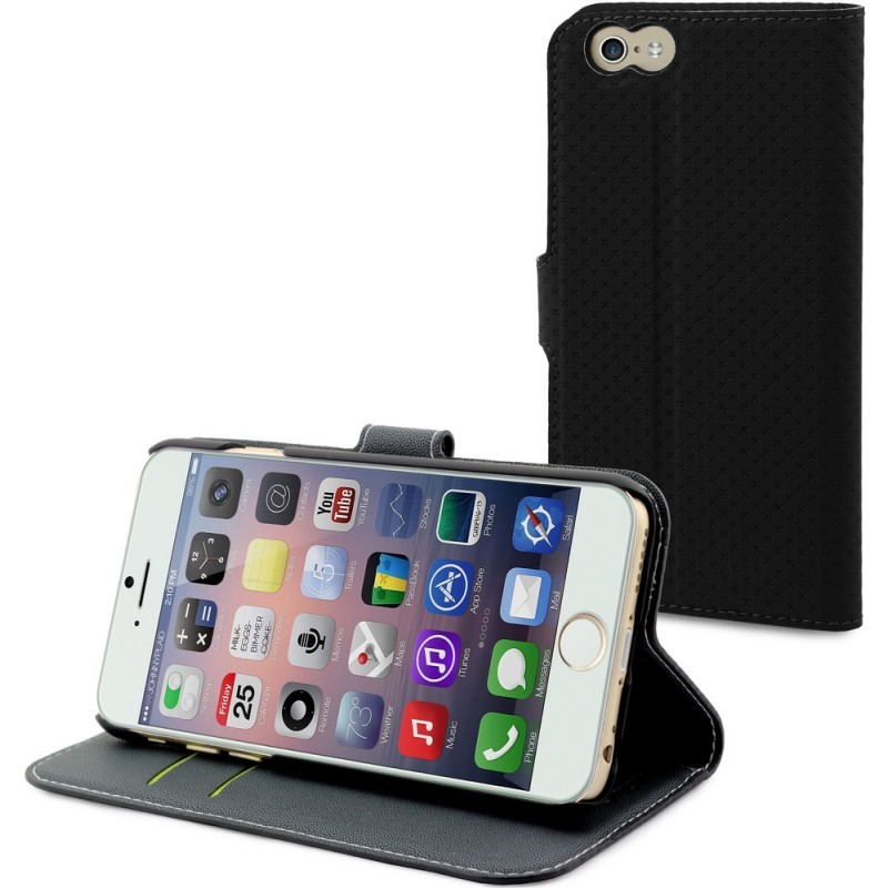 Muvit Wallet Case iPhone 6 Plus / 6S Plus Black