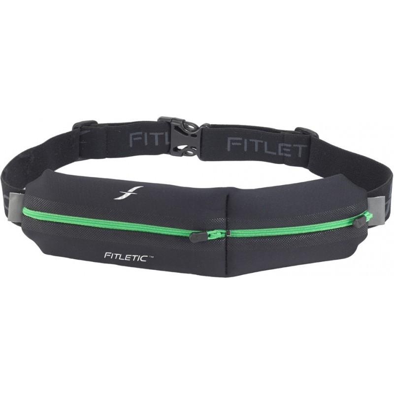 Fitletic Double Pouch Laufgürtel schwarz / grün