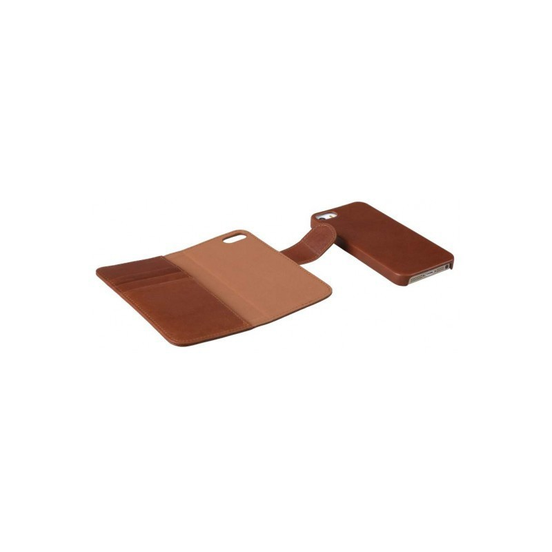 Melkco Alphard iPhone 5 / 5S Book Case Leather Orange Brown