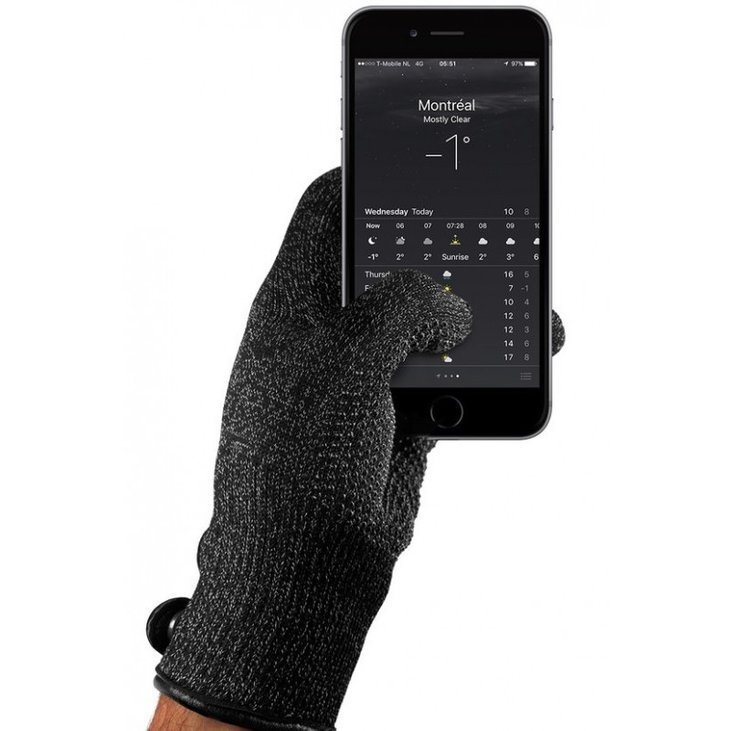 Mujjo Touchscreen-Handschuhe medium Single Layered schwarz