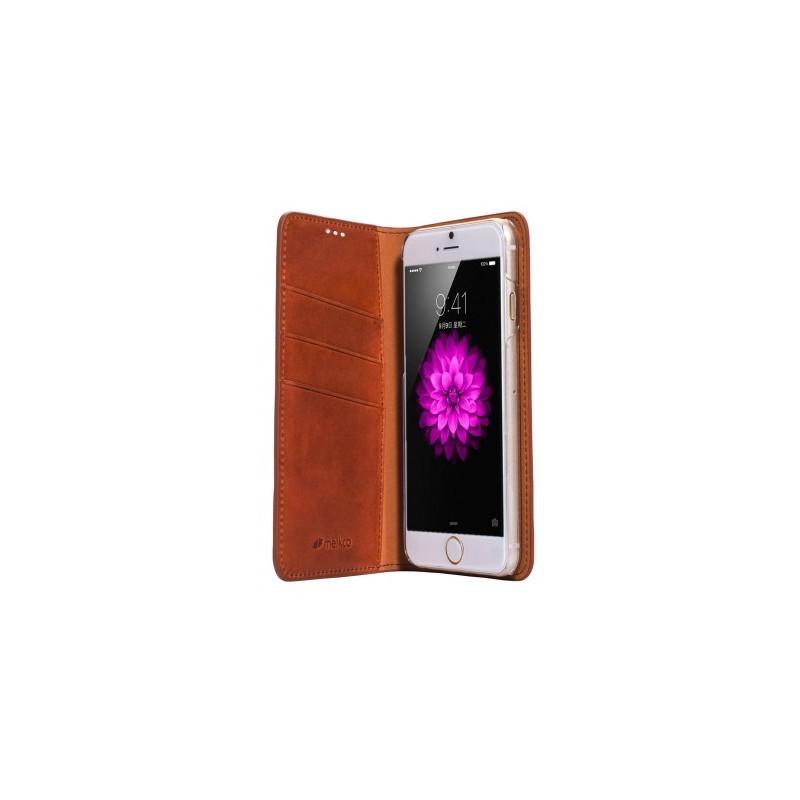 Melkco Herman iPhone 5(S)/SE Book Case Italian Orange