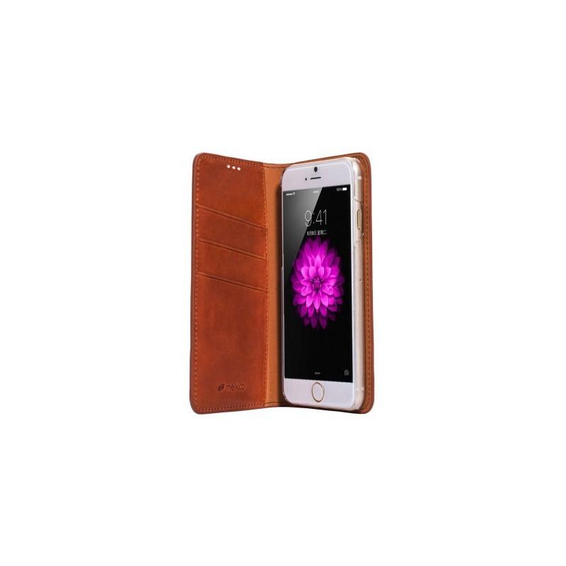 Melkco Herman iPhone 6 / 6S Book Case Italian Orange