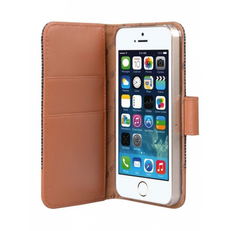 Melkco Holmes iPhone 5 / 5S Wallet Case Vintage Brown