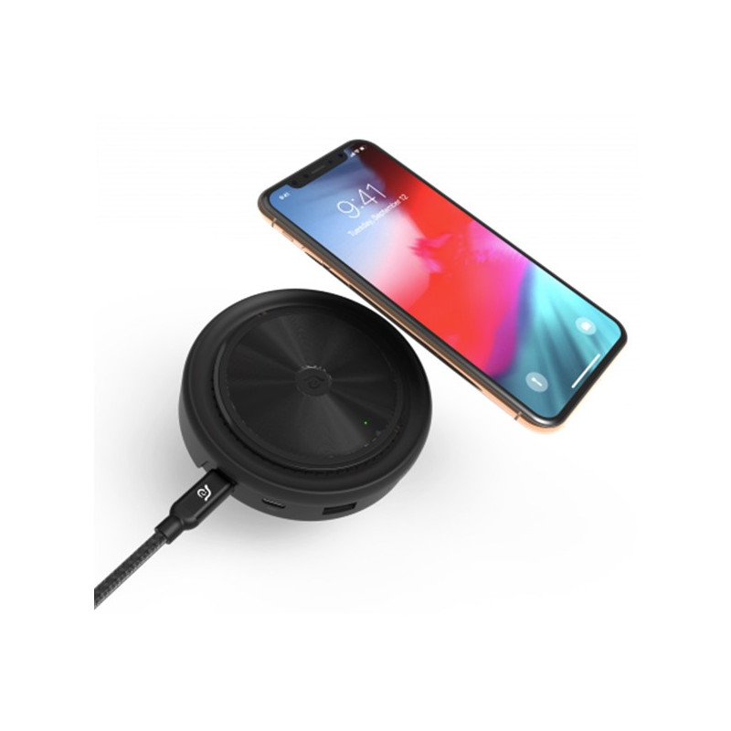 ADAM elements CASA Hub O7 USB-C 3.1 7 port Wireless Charger schwarz