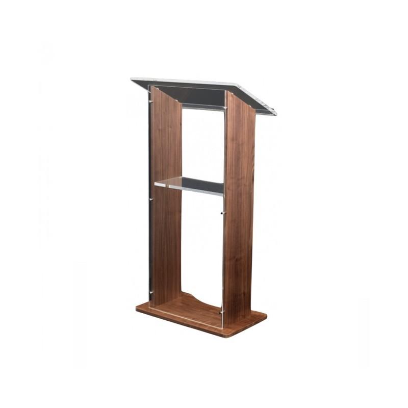 Amethyst Rednerpult / Acryl & Holz Pult