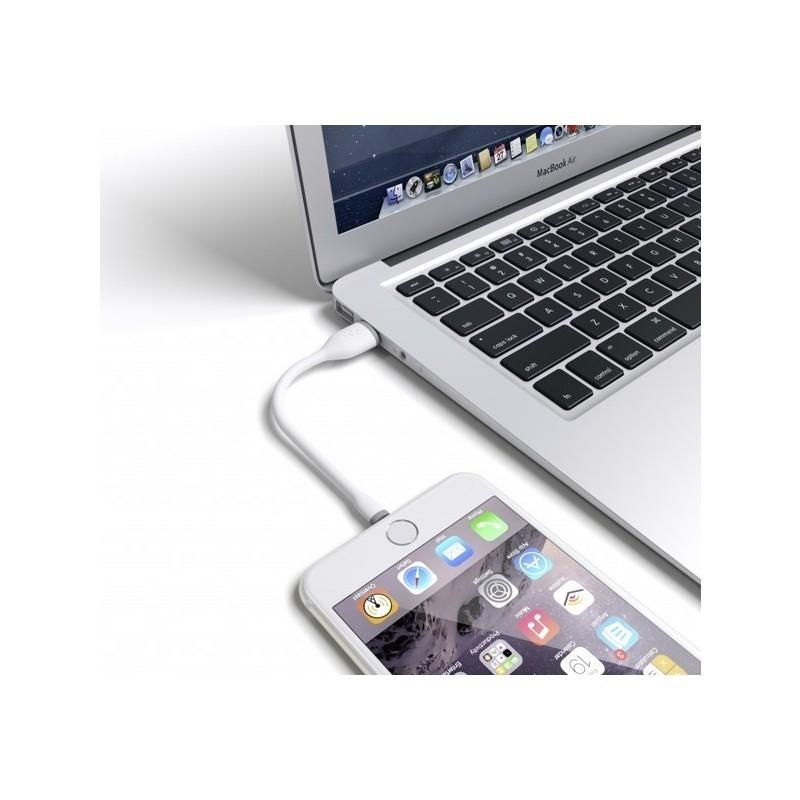Satechi Flexible Lightning auf USB-Kabel weiß