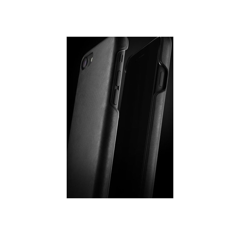 Mujjo Leather Case iPhone 7 / 8 schwarz