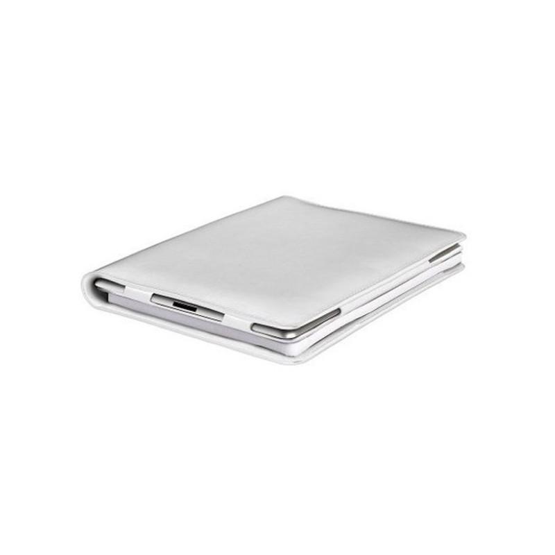 iPad 2 / 3 / 4 Luxe Leder Folio Case mit weißem Notepad