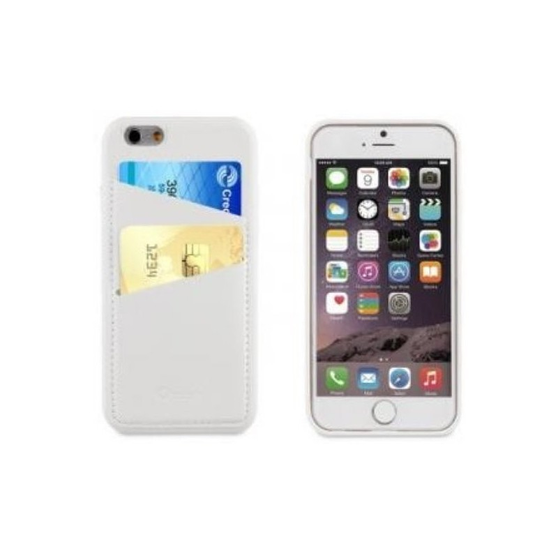 Muvit Leatherette Back Case iPhone 6(S) weiß