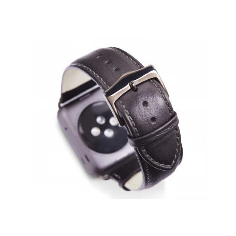 dbramante1928 Kopenhagen Apple Watch Strap 38 / 40 mm grau / schwarz