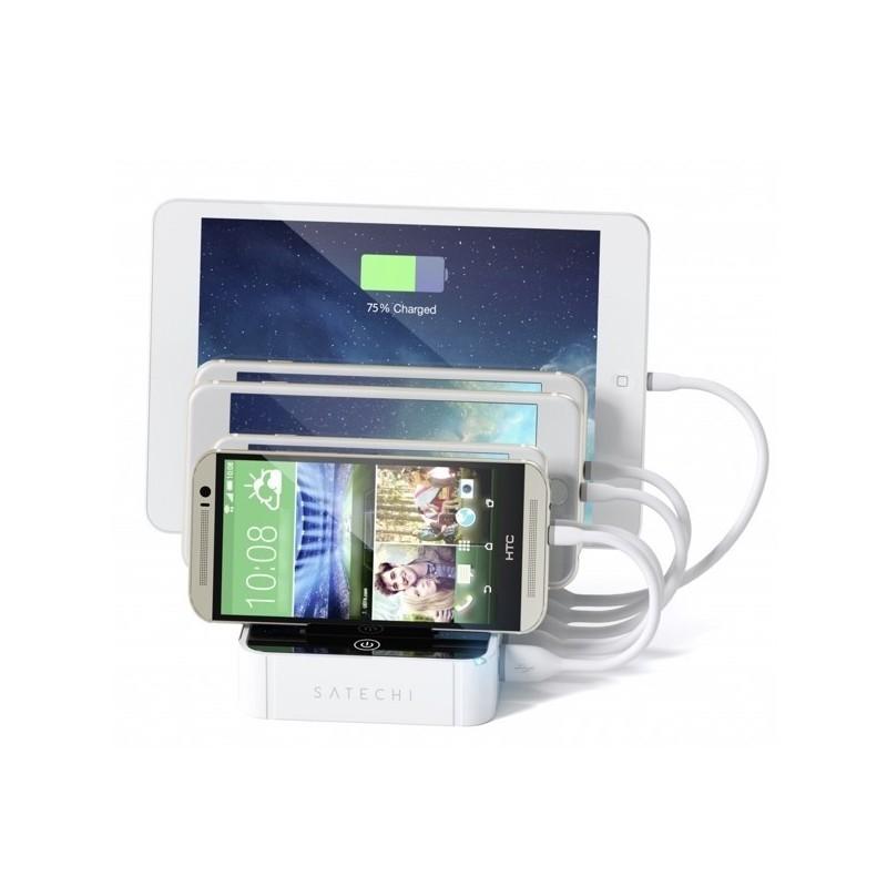 Satechi 5-Port USB Ladestation mit Schnellladung weiß