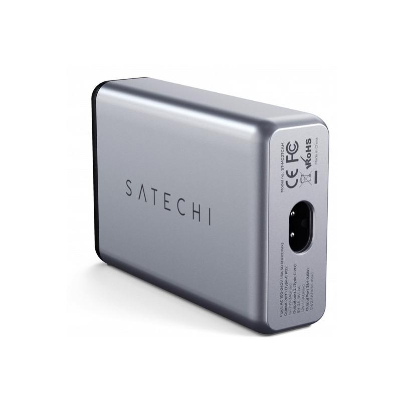 Satechi 75W Dual Type-C PD Reiseladegerät grau