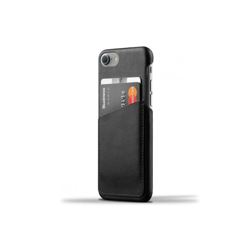 Mujjo Wallet Case iPhone 7 / 8 / SE 2020 schwarz